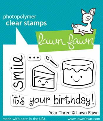 Lawn Fawn Clear Stamps - Year Three (Smile it's your Birthday)