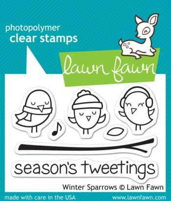 Lawn Fawn Clear Stamps - Winter Sparrows