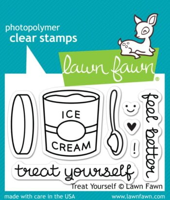 Lawn Fawn Clear Stamps - Treat Yourself