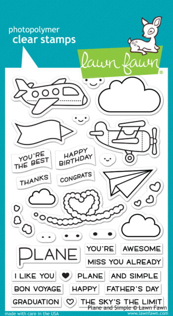 Lawn Fawn Clear Stamps - Plane and Simple
