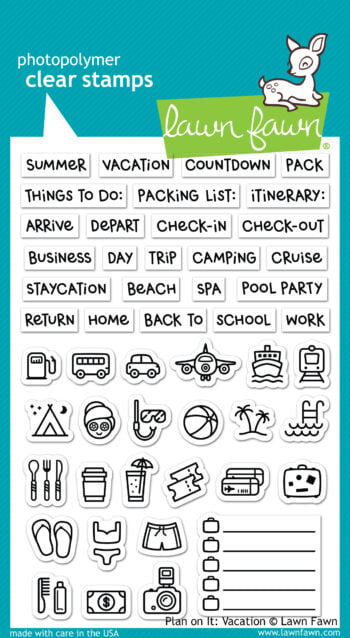Lawn Fawn Clear Stamps - Plan on it Vacation