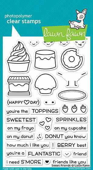 Lawn Fawn Clear Stamps - Sweet Friends