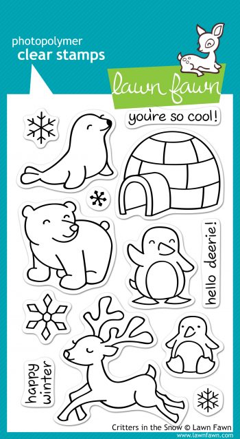 Lawn Fawn Clear Stamps - Critters In The Snow