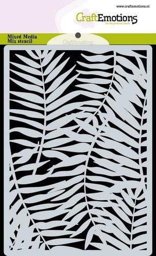 craftemotions mask stencil achtergrond palmbladeren a6 a6 09 20 317897 nl G 1