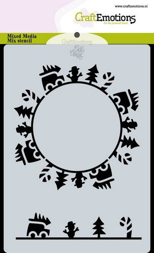 craftemotions mask stencil christmas circle cars carla creaties 313616 nl G 1