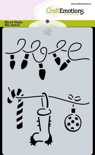 craftemotions mask stencil christmas decorations carla creaties 313615 nl G 1