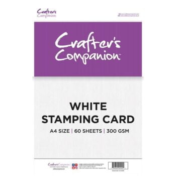 crafter s companion white stamping card
