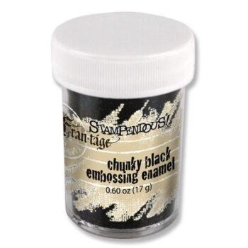 stampendous fran tage chunky black embossing enamel