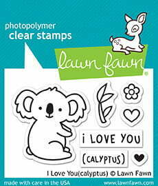 Lawn Fawn Clear Stamps - I Love You (calyptus)