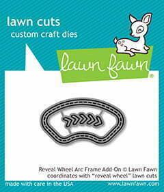Lawn Cuts Craft Dies - Reveal Wheel Arc Frame Add-On
