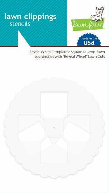 Lawn Fawn Reveal Wheel Template: Square