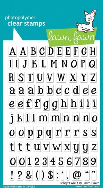 Lawn Fawn Clear Stamps - Riley's ABC