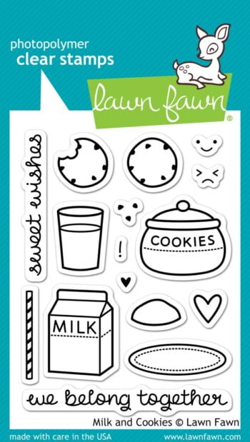 Lawn Fawn Clear Stamps - Milk and Cookies
