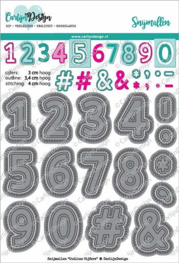 cdsn 0056 carlijndesign snijmallen outline cijfers