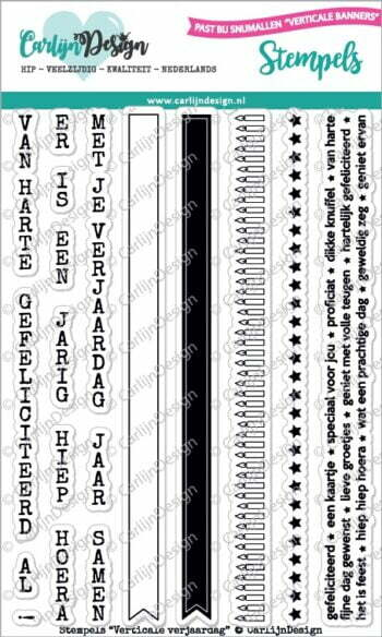 cdst 0043 carlijndesign stempels verticale verjaardag