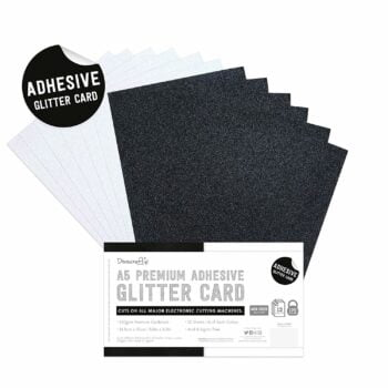 dovecraft adhesive glitter sheets a5 black white d