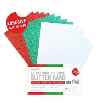 dovecraft adhesive glitter sheets a5 festive dcgcd