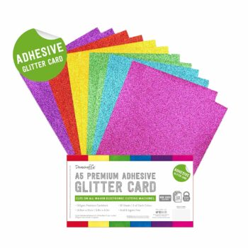 dovecraft adhesive glitter sheets a5 rainbow brigh