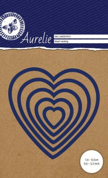 hr aurelie heart nesting snij embossingsmal aucd1013