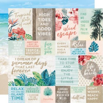 hr kaisercraft paradise found scrapbooking paper tropical tides