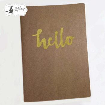hr piatek trzynastego kraft notebook journal hello
