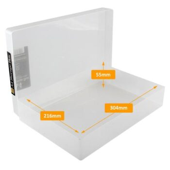 hr westonboxes a4 storage box internal dimensions large
