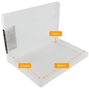 hr westonboxes plastic a4 slim box internal dimensions large