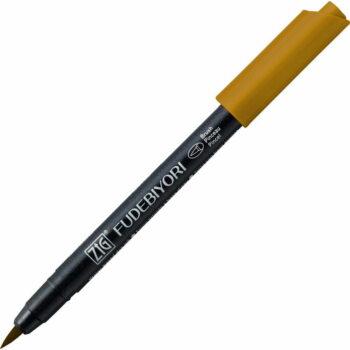 id 066 dark oatmeal zig kuretake fudebiyori brush lettering pen water based dye ink