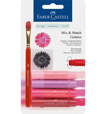 id red faber castell mix match gelatos clear stamp set