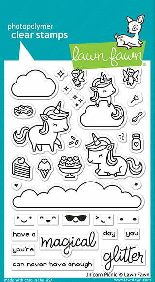 lf2319 lawn fawn clear stamps unicorn picnic sml