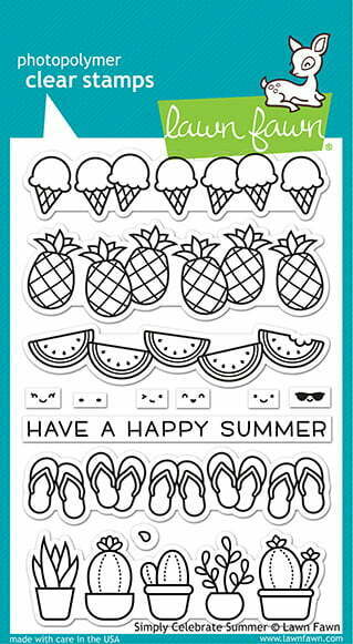 lf2333 lawn fawn clear stamps simply celebrate summer sml
