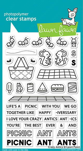 lf2336 lawn fawn clear stamps crazy antics sml