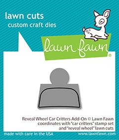 lf2340 reveal wheel car critters add on lawn fawn craft dies