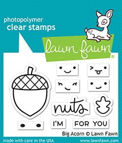 lf2403 lawn fawn clear stamps big acorn sml