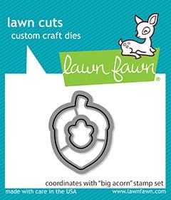 lf2404 lawn cuts coordinating craft dies big acorn lawn cuts sml