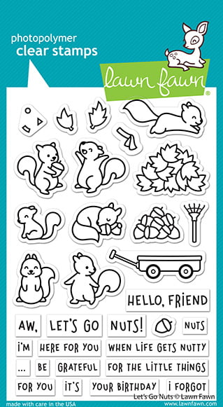 lf2407 lawn fawn clear stamps lets go nuts sml