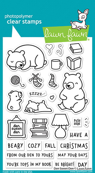 lf2409 lawn fawn clear stamps den sweet den sml