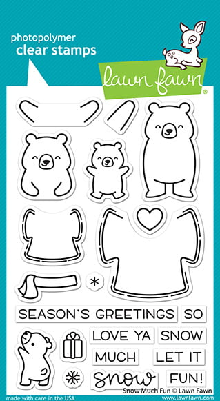 lf2411 lawn fawn clear stamps snow much fun sml