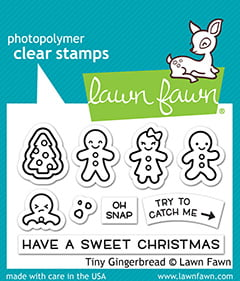 lf2417 lawn fawn clear stamps tiny gingerbread sml