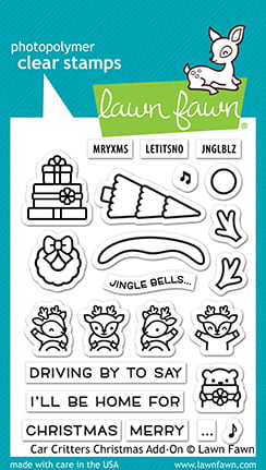 lf2423 lawn fawn clear stamps car critters christmas add on sml