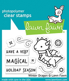 lf2425 lawn fawn clear stamps winter dragon sml