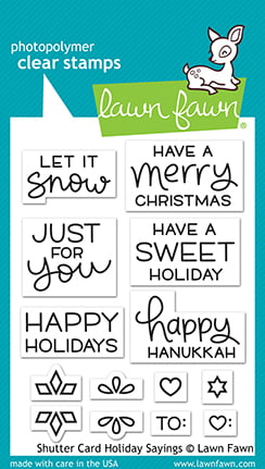 lf2430 lawn fawn clear stamps shutter card holiday sayings sml