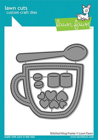lf2445 lawn cuts stand alone craft dies stitched mug frame sml