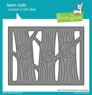 lf2451 lawn cuts stand alone craft dies lift the flap tree backdrop sml