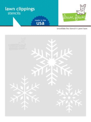 lf2460 lawn fawn template snowflake trio stencil