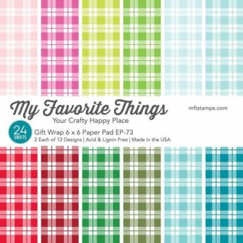 my favorite things gift wrap paper pad 6x6 inch ep