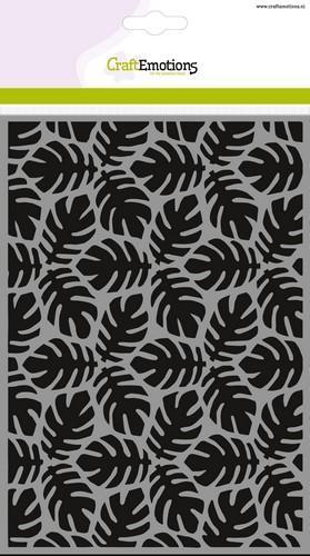 tt craftemotions mask stencil achtergrond patroon monstera blad a5 new 05 1 46565 1 g