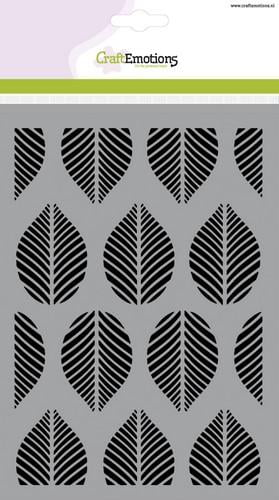 tt craftemotions mask stencil patroon ornament bladeren a5 new 01 18 45428 1 g