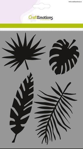 tt craftemotions mask stencil tropische bladeren a5 new 05 18 46563 1 g