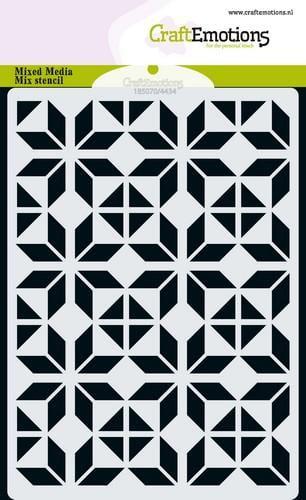 tt craftemotions mm mix stencil design ruit bloem blok a6 11 18 48650 1 g
